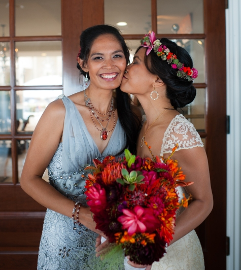 Sniff-kisses for my storytelling soul sister and Matron of Honor, Amy Christensen, Half Moon Bay