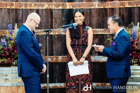 When you officiated your best friend's wedding, reading poetry, and not at all trying to hold in the giggles during something funny, Napa