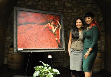 Supporting GAB sis, Genice Grace, at her solo show, Napa