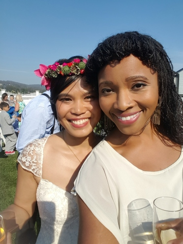 When multimedia artist Indira Allegra decides to take a selfie with you at your wedding, Half Moon Bay