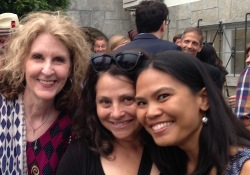 Happy times with these very fine poets, Karen Hildebrand and Edite Cunha