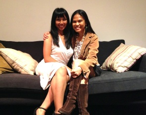 With Trinidad Escobar at her final MFA Comics reading, San Francisco