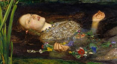 Millais Ophelia (detail), 1852