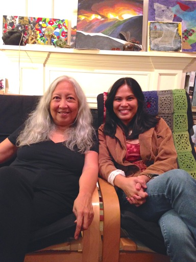 Hanging with artist Jean Vengua, Monterey