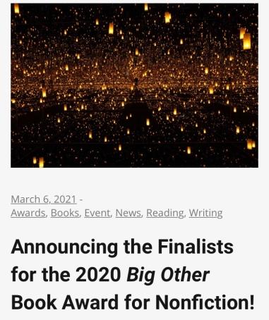 Big Other Book Award finalist