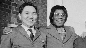 Photo of Ikutaro Kakehashi and Don Lewis, courtesy of the documentary The Ballad of Don Lewis, 2020