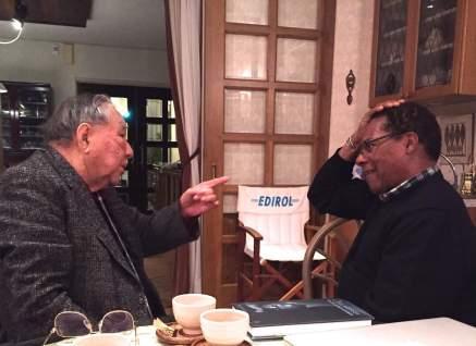 Photo of Ikutaro Kakehashi and Don Lewis during their last get together in Japan on Kakehashi's birthday in 2015, courtesy of Don Lewis Music