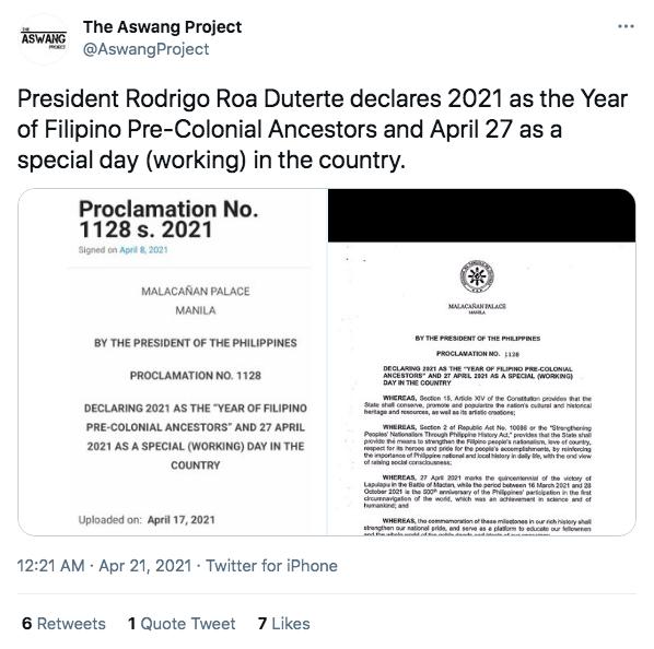 Jordan Clark_Duterte Sympathizer Tweet
