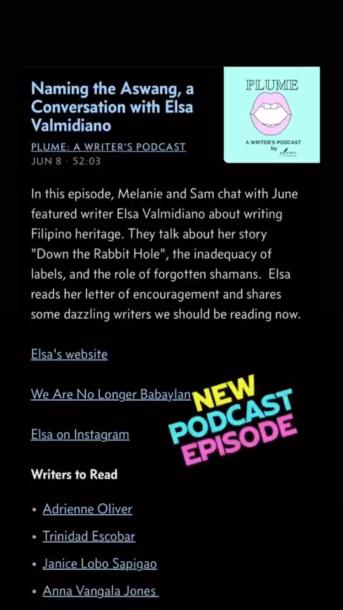 Plume June 2021 New Podcast