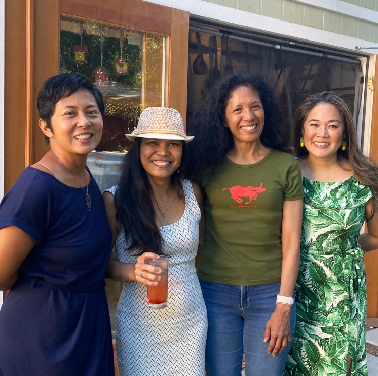 2021 Summer Solstice, end of lockdown, celebration hosted by Fides Enriquez with powerhouses Caroline Cabading and Evelyn Rodriguez, Napa