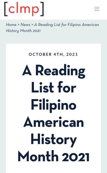 FAHM 2021 CLMP Reading List